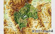 Satellite Map of Gostivar, physical outside