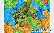 Satellite Map of Gostivar, political outside