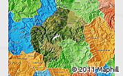 Satellite Map of Gostivar, political shades outside