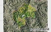 Satellite Map of Gostivar, semi-desaturated