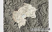 Shaded Relief Map of Gostivar, darken