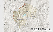 Shaded Relief Map of Gostivar, lighten