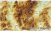 Physical 3D Map of Mavrovi Anovi
