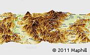 Physical Panoramic Map of Mavrovi Anovi