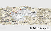 Classic Style Panoramic Map of Gostivar
