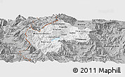 Gray Panoramic Map of Gostivar
