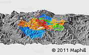 Political Panoramic Map of Gostivar, desaturated