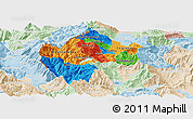 Political Panoramic Map of Gostivar, lighten