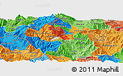 Political Panoramic Map of Gostivar, political shades outside