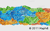 Political Shades Panoramic Map of Gostivar
