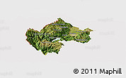 Satellite Panoramic Map of Gostivar, cropped outside