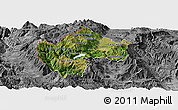 Satellite Panoramic Map of Gostivar, desaturated