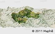 Satellite Panoramic Map of Gostivar, lighten