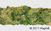 Satellite Panoramic Map of Gostivar