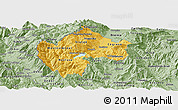 Savanna Style Panoramic Map of Gostivar