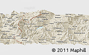 Shaded Relief Panoramic Map of Gostivar