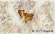 Physical 3D Map of Rostusa, lighten