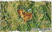 Physical 3D Map of Rostusa, satellite outside