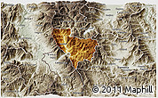 Physical 3D Map of Rostusa, semi-desaturated