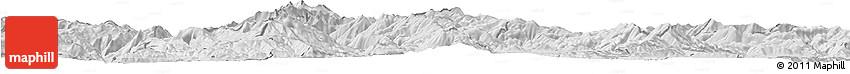 Silver Style Horizon Map of Rostusa