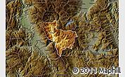 Physical Map of Rostusa, darken