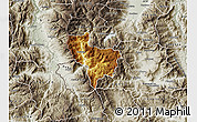Physical Map of Rostusa, semi-desaturated