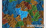 Political Map of Rostusa, darken