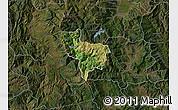 Satellite Map of Rostusa, darken