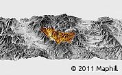 Physical Panoramic Map of Rostusa, desaturated