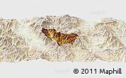 Physical Panoramic Map of Rostusa, lighten