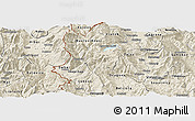 Shaded Relief Panoramic Map of Rostusa