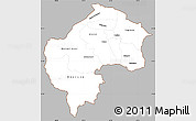 Gray Simple Map of Gostivar, cropped outside