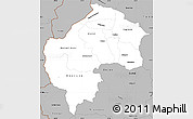 Gray Simple Map of Gostivar