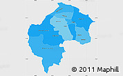 Political Shades Simple Map of Gostivar, single color outside
