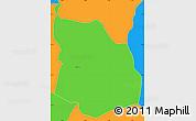Political Simple Map of Srbinovo