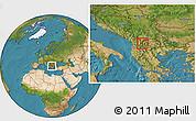 Satellite Location Map of Vrutok