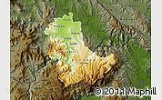 Physical Map of Kavadarci, darken
