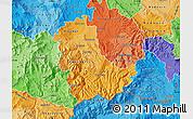 Political Shades Map of Kavadarci
