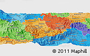 Political Shades Panoramic Map of Kavadarci