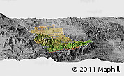 Satellite Panoramic Map of Kavadarci, desaturated