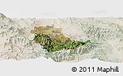 Satellite Panoramic Map of Kavadarci, lighten