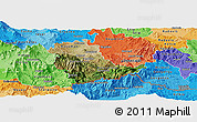 Satellite Panoramic Map of Kavadarci, political shades outside