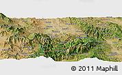 Satellite Panoramic Map of Kavadarci