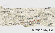 Shaded Relief Panoramic Map of Kavadarci