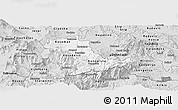 Silver Style Panoramic Map of Kavadarci