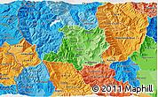 Political Shades 3D Map of Kicevo
