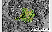 Satellite Map of Kicevo, desaturated