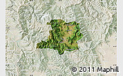 Satellite Map of Kicevo, lighten