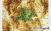 Satellite Map of Kicevo, physical outside