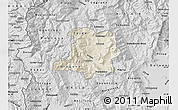 Shaded Relief Map of Kicevo, desaturated